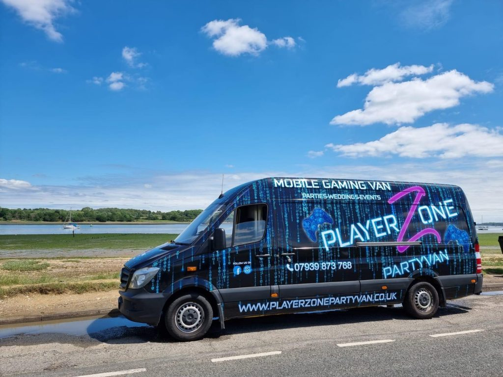 playerzone party van gamer van hire in ipswich